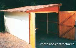 abri jardin chalet bungalow garages ossature en bois cabane nos batiments bois. Black Bedroom Furniture Sets. Home Design Ideas