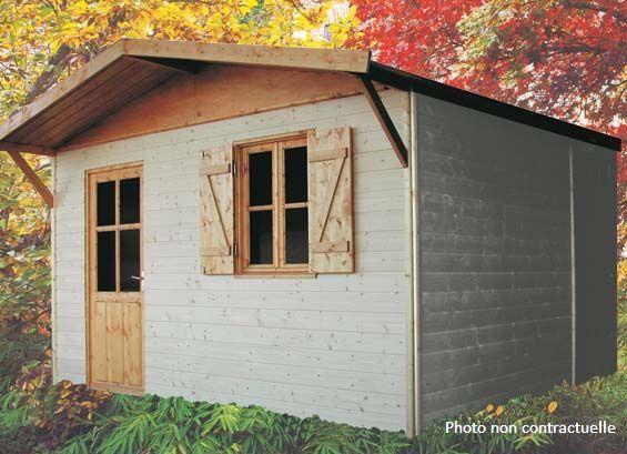 abri jardin chalet bungalow garages ossature en bois cabane abris de jardin en bois. Black Bedroom Furniture Sets. Home Design Ideas