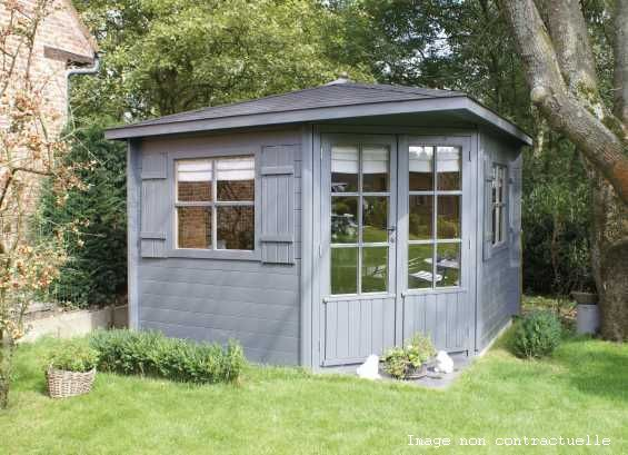 abri jardin chalet bungalow garages ossature en bois cabane versailles. Black Bedroom Furniture Sets. Home Design Ideas