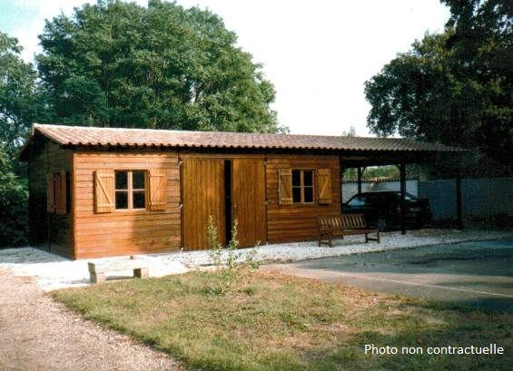 Abri jardin chalet bungalow garages ossature en bois cabane garage atelier g16 10m x - Cabane jardin atelier besancon ...