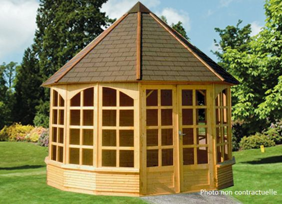 kiosque ferme en bois. Black Bedroom Furniture Sets. Home Design Ideas