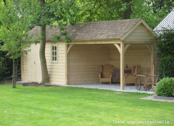 Abri jardin chalet bungalow garages ossature en bois for Chalet en bois de jardin