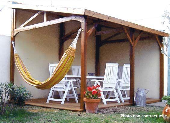 abri jardin chalet bungalow garages ossature en bois. Black Bedroom Furniture Sets. Home Design Ideas