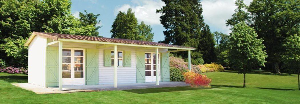 Abri jardin chalet bungalow garages ossature en bois - Bungalow de jardin design ...