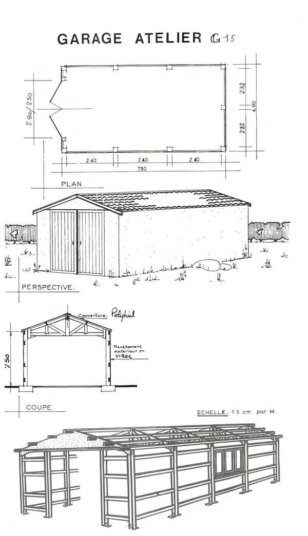 abri jardin chalet bungalow garages ossature en bois cabane garage atelier g15. Black Bedroom Furniture Sets. Home Design Ideas