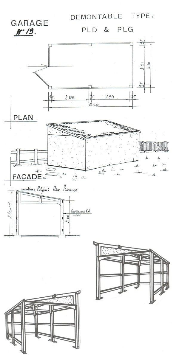 Plan de garage une pente rev tements modernes du toit for Garage du midi plan d orgon