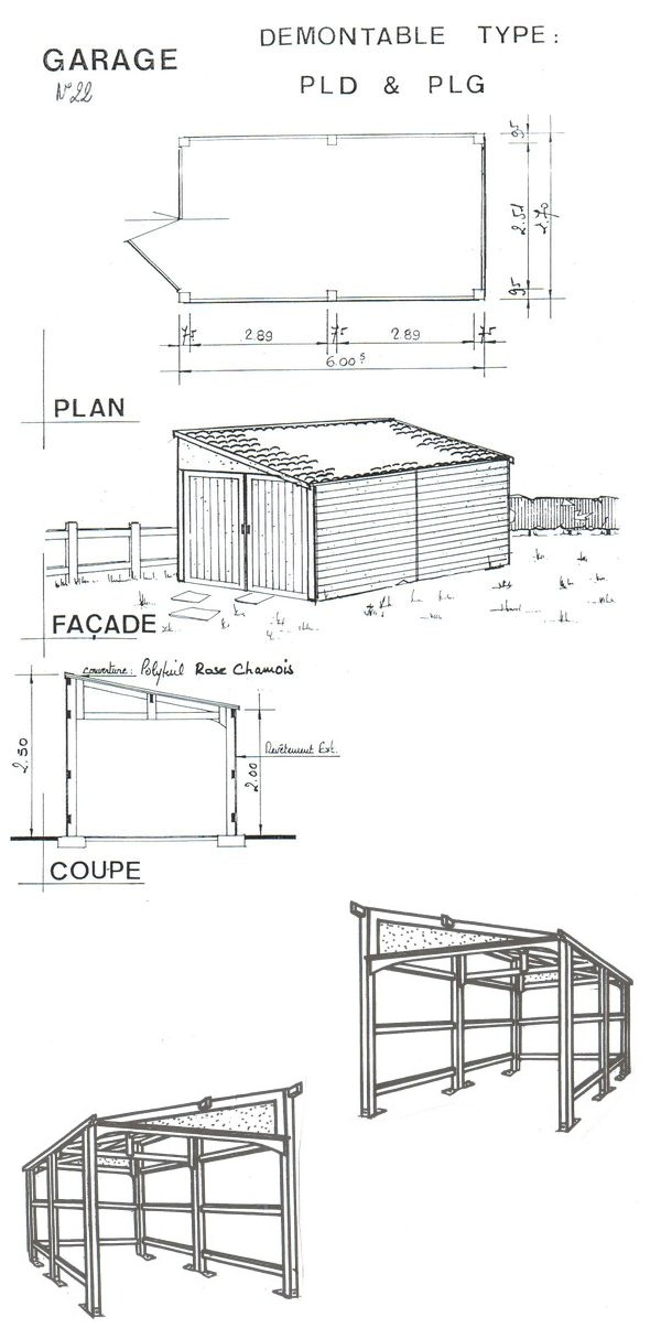 Plan abri de jardin 1 pente interesting beautiful abri de - Plan abri de jardin 1 pente ...